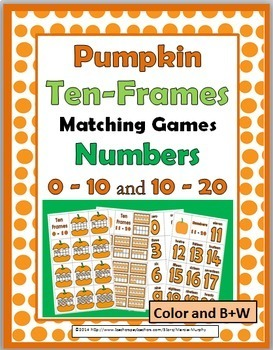 Pumpkin Math Activity - Numbers 1-20