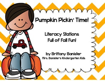 Pumpkin Themed Literacy Station Pack
