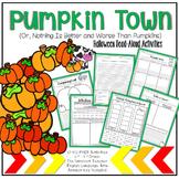 Pumpkin Town: No Prep Read-Aloud Activity Printables