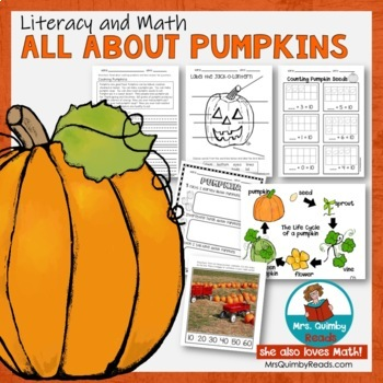 Pumpkin Unit for Primary Grades - Literacy and Math Pages