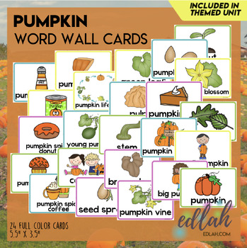 Pumpkin Word Wall Cards (set of 12)