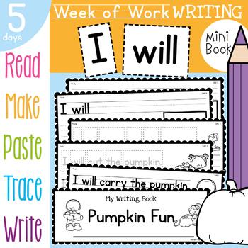 Pumpkin Writing {Week of Writing Booklet}