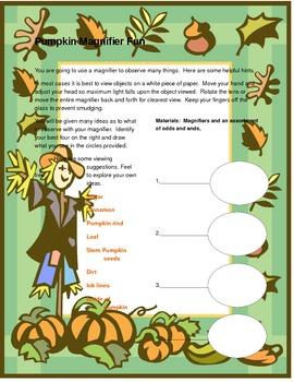 Pumpkin magnifier fun!