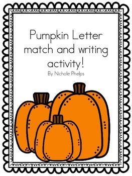 Pumpkin letter match activity