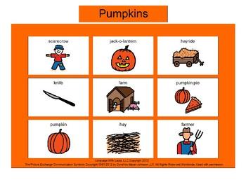 Pumpkins Bingo! [speech therapy and autism]