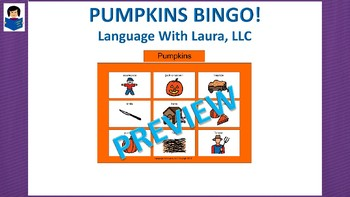 Pumpkins Bingo! Multiple Boards [speech therapy and autism]