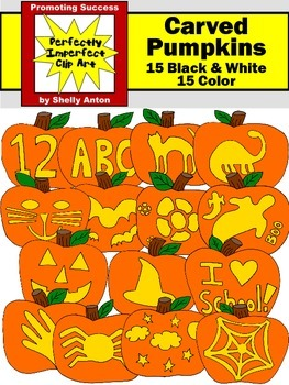 Halloween Clipart JACK O' LANTERNS Pumpkins Clip Art  Comm