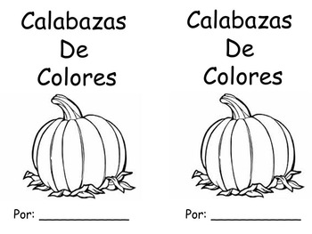 Pumpkins Color Words Book in Spanish
