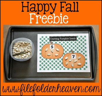 Pumpkins Free:  Counting Pumpkin Seeds