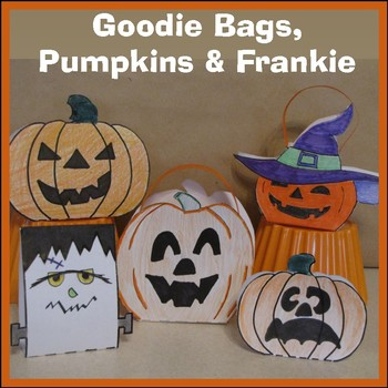 Pumpkins - Hallowe'en Goodie Bags, Decorations, Frankenste