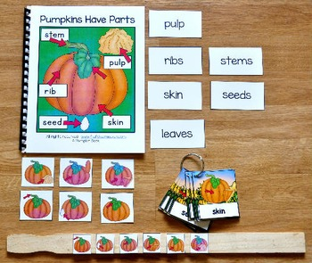 Pumpkins Have Parts Adapted Book and Vocabulary Activities