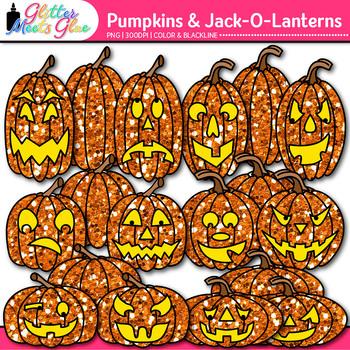 Halloween Pumpkin Clip Art {Jack-O-Lantern Graphics for Sc