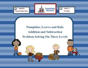Pumpkins, Leaves, and Kids, Problem Solving on 3 Levels