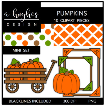 Pumpkins Mini Set {Graphics for Commercial Use}