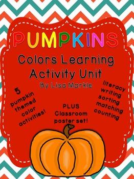 Pumpkins Color Recognition Activity Pack for Preschool
