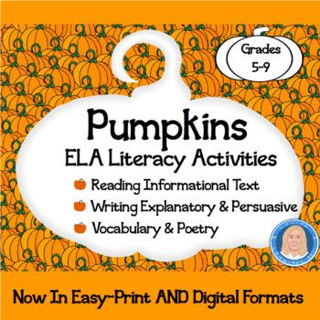 Pumpkins Common Core ELA Informational Text, Vocab, Langua