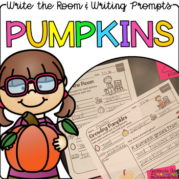 Pumpkins - Write the Room Writing Prompts {Print on Cardst