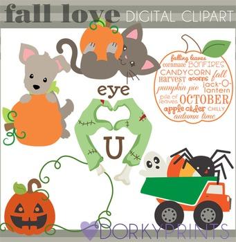 Pumpkins and Halloween Clip Art