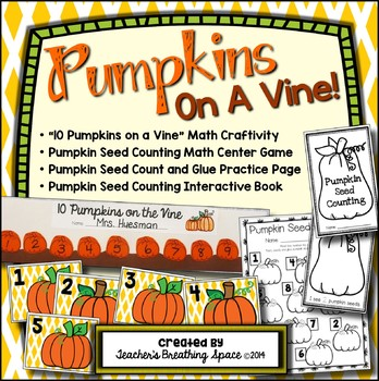 Pumpkins on a Vine --- Pumpkin Counting 1-10 and Pumpkin M