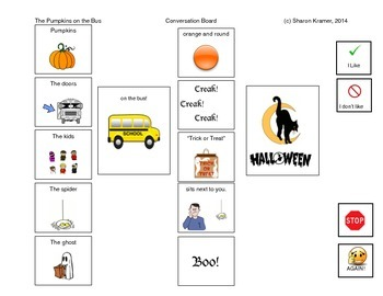 Pumpkins on the Bus. Halloween. Visual Communication.