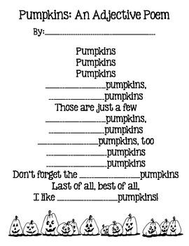 Pumpkins:An Adjective Poem