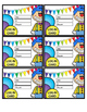 AR Punch & LOG IN CARDS~ Circus Theme (non labeled cards i