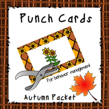 Behavior Management Punch Cards- Autumn (Fall)