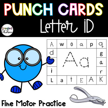 Punch Cards for Letter ID