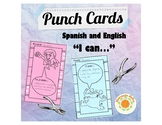 Punch Cards in Spanish and English - For Rewards and Behav