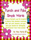 Punch and Poke Simple Words