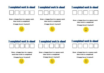 Punch card, completed work in class incentive