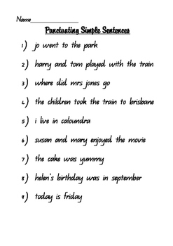 Punctuating Sentences