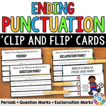 Ending Punctuation Task Cards (Periods, Question Marks, &