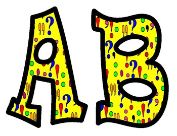Punctuation Alphabet Bulletin Board Letters
