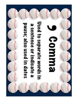 Punctuation Anchor Charts (Sports Themed)