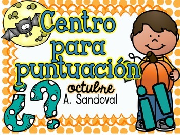 Punctuation Center for OCTOBER in Spanish