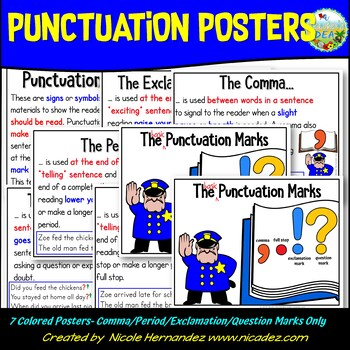 Punctuation Posters - {Reading Stop Signs and Voice Visual
