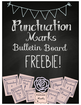 Punctuation Marks Bulletin Board Freebie