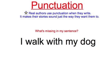 Punctuation Marks: Period, Question Mark, Exclamation Poin