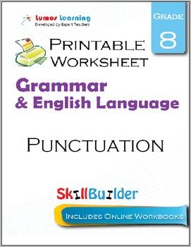 Punctuation Printable Worksheet, Grade 8