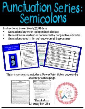 Punctuation Series: Semicolons