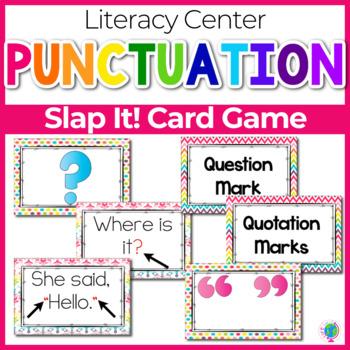 "Punctuation ""Slap-It!"" card game ELA/Literacy Center"