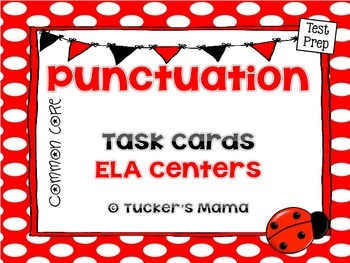 Punctuation Task Cards .