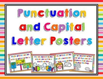 Punctuation and Capital Letter Posters