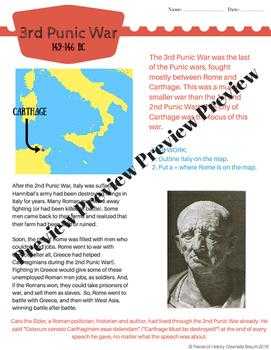 Punic War BUNDLE: 1st, 2nd and 3rd Punic War! {no prep packets!}
