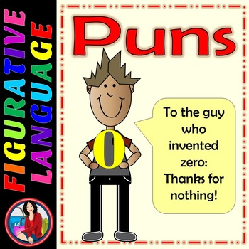Puns, What do they mean? Figurative Language Center Activity