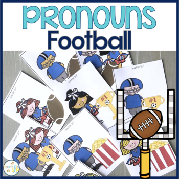 Punting for Pronouns:  Football & Cheerleader Themed Prono