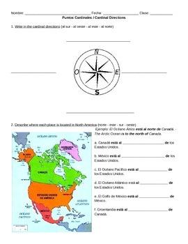 Puntos Cardinales / Cardinal Directions in Spanish