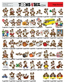 Puppy Clipart Set