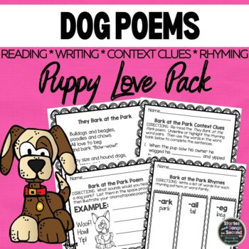Puppy Love Poetry Pack--Reading Fluency, Rhyming, and Writ